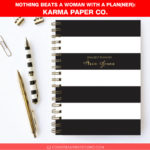 Nothing Beats a Woman with a Plan(ner): Karma Paper Co.