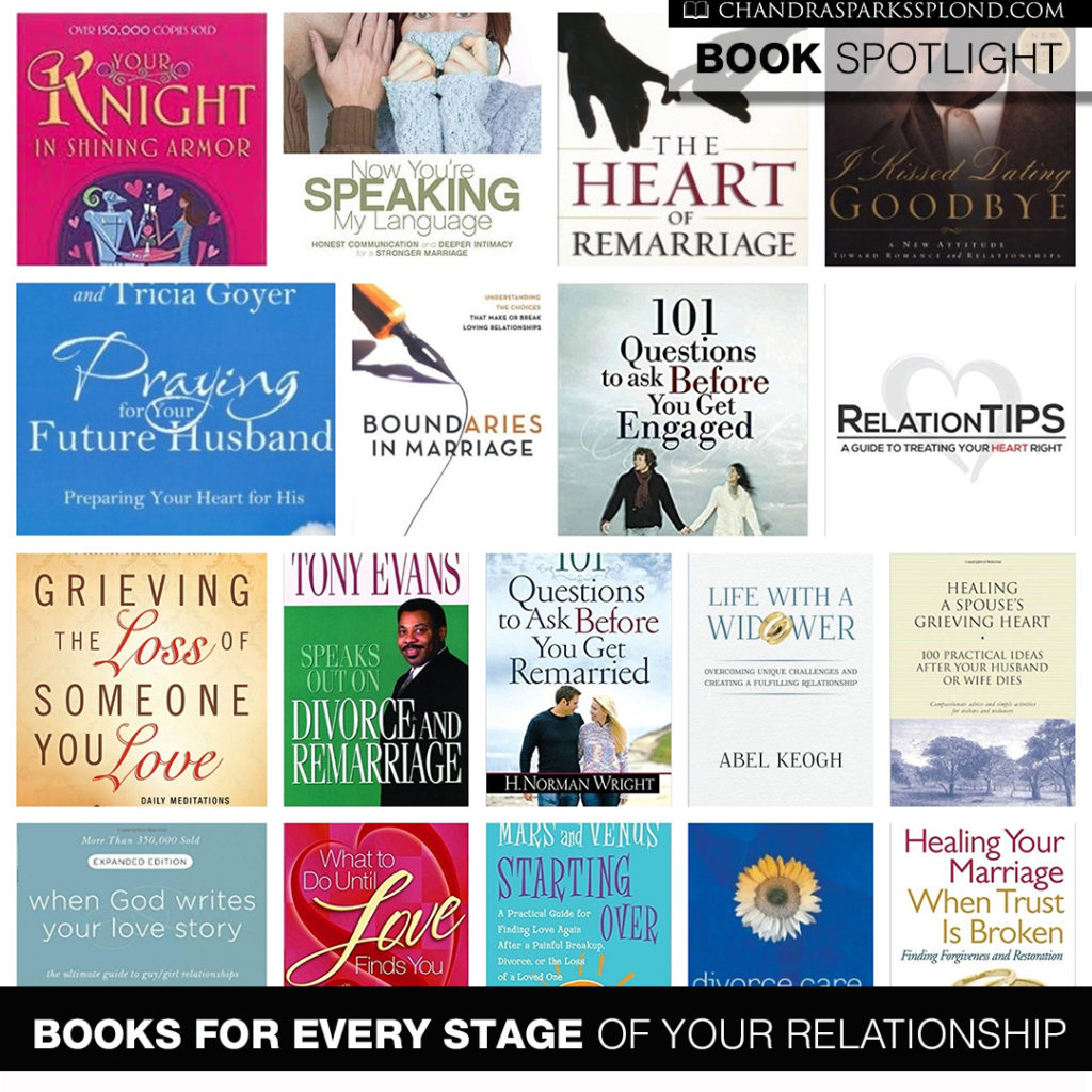 Whether you're single and your heart's desire is to be married or you're  grieving the untimely death of a spouse, there's a book for that.