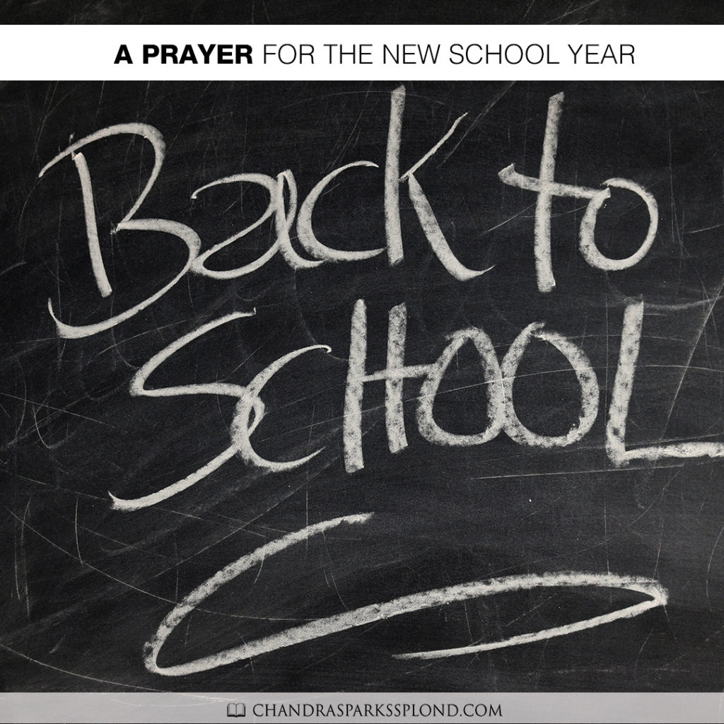 school starts this week here in birmingham and other areas will be starting soon i thought now was a good time to say a prayer for not only our students